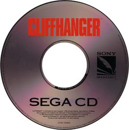Artwork on the CD for Cliffhanger on the Sega CD.