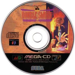 Artwork on the CD for Double Switch on the Sega CD.
