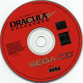 Artwork on the CD for Dracula Unleashed on the Sega CD.