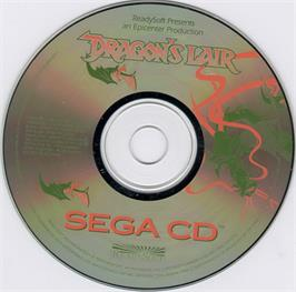 Artwork on the CD for Dragon's Lair on the Sega CD.