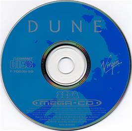 Artwork on the CD for Dune on the Sega CD.