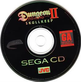 Artwork on the CD for Dungeon Master II: The Legend of Skullkeep on the Sega CD.