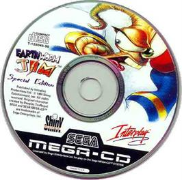 Artwork on the CD for Earthworm Jim Special Edition on the Sega CD.