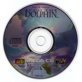 Artwork on the CD for Ecco the Dolphin on the Sega CD.