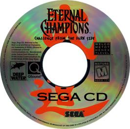 Artwork on the CD for Eternal Champions: Challenge from the Dark Side on the Sega CD.