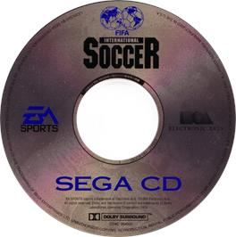 Artwork on the CD for FIFA International Soccer on the Sega CD.
