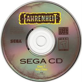 Artwork on the CD for Fahrenheit on the Sega CD.
