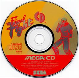 Artwork on the CD for Final Fight CD on the Sega CD.