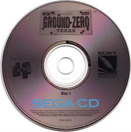 Artwork on the CD for Ground Zero Texas on the Sega CD.