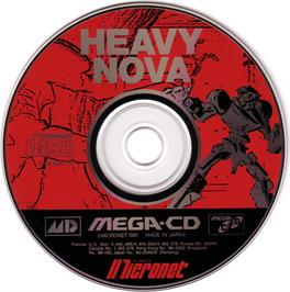 Artwork on the CD for Heavy Nova on the Sega CD.