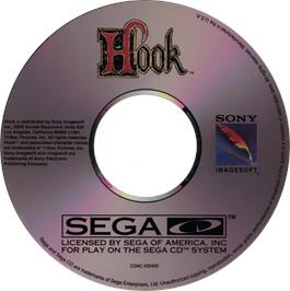 Artwork on the CD for Hook on the Sega CD.