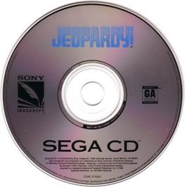 Artwork on the CD for Jeopardy on the Sega CD.