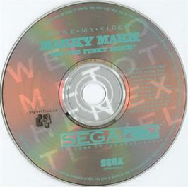 Artwork on the CD for Make My Video: Marky Mark and the Funky Bunch on the Sega CD.