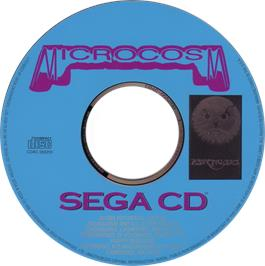 Artwork on the CD for Microcosm on the Sega CD.