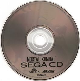 Artwork on the CD for Mortal Kombat on the Sega CD.