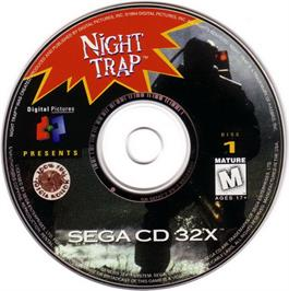 Artwork on the CD for Night Trap on the Sega CD.