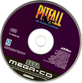 Artwork on the CD for Pitfall: The Mayan Adventure on the Sega CD.