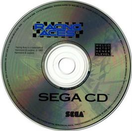 Artwork on the CD for Racing Aces on the Sega CD.