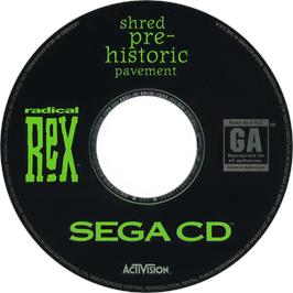 Artwork on the CD for Radical Rex on the Sega CD.