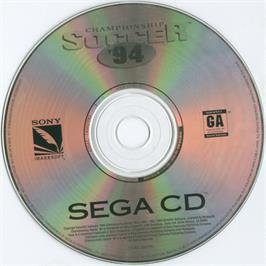 Artwork on the CD for Sensible Soccer: European Champions: 92/93 Edition on the Sega CD.
