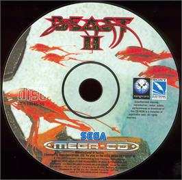 Artwork on the CD for Shadow of the Beast 2 on the Sega CD.