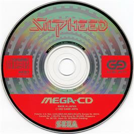 Artwork on the CD for Silpheed on the Sega CD.