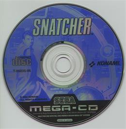 Artwork on the CD for Snatcher on the Sega CD.