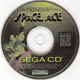 Artwork on the CD for Space Ace on the Sega CD.