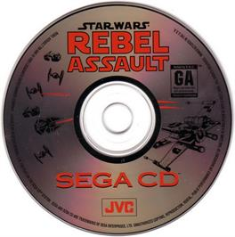 Artwork on the CD for Star Wars: Rebel Assault on the Sega CD.