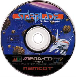 Artwork on the CD for Starblade on the Sega CD.