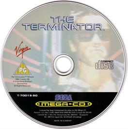 Artwork on the CD for Terminator on the Sega CD.