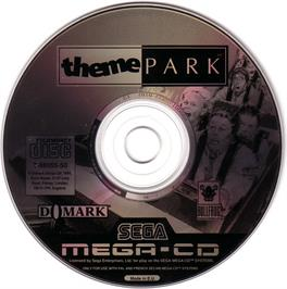 Artwork on the CD for Theme Park on the Sega CD.