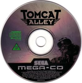 Artwork on the CD for Tomcat Alley on the Sega CD.