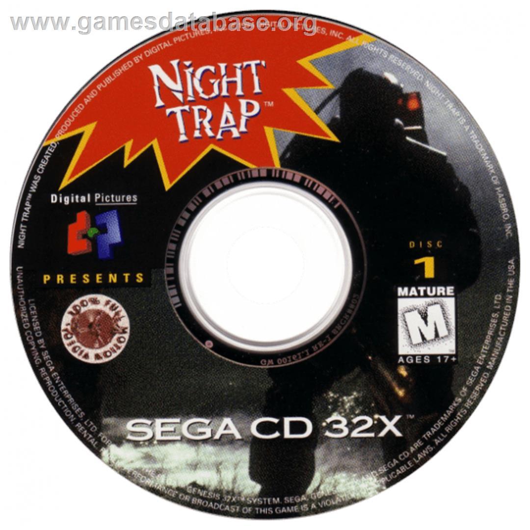 Night Trap - Sega CD - Artwork - CD