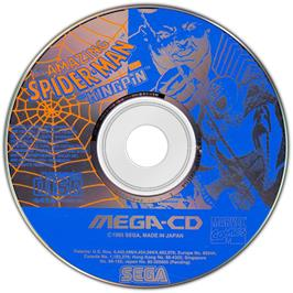 Artwork on the Disc for Amazing Spider-Man vs. The Kingpin on the Sega CD.