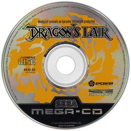 Artwork on the Disc for Dragon's Lair on the Sega CD.