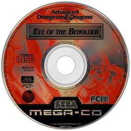 Artwork on the Disc for Eye of the Beholder on the Sega CD.