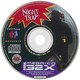Artwork on the Disc for Night Trap on the Sega CD.