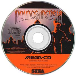 Artwork on the Disc for Prince of Persia on the Sega CD.