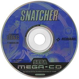 Artwork on the Disc for Snatcher on the Sega CD.