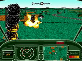 In game image of AH-3 Thunderstrike on the Sega CD.