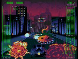 In game image of Adventures of Batman & Robin on the Sega CD.