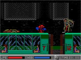 In game image of Amazing Spider-Man vs. The Kingpin on the Sega CD.