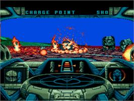 In game image of Battlecorps on the Sega CD.