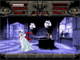 In game image of Bram Stoker's Dracula on the Sega CD.