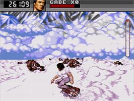In game image of Cliffhanger on the Sega CD.