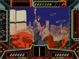 In game image of Cobra Command on the Sega CD.