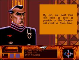 In game image of Dune on the Sega CD.