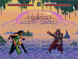 In game image of Eternal Champions: Challenge from the Dark Side on the Sega CD.