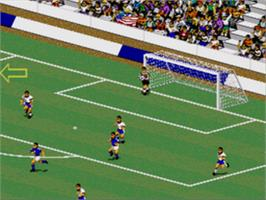 In game image of FIFA International Soccer on the Sega CD.